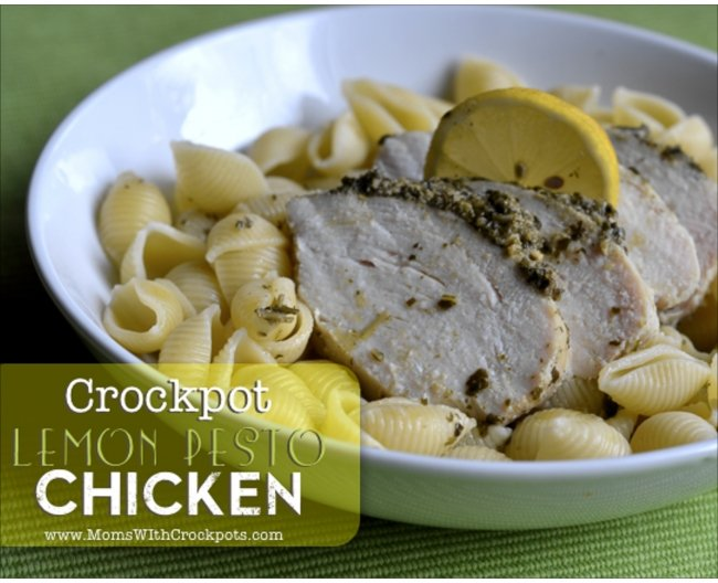 Crockpot Lemon Pesto Chicken