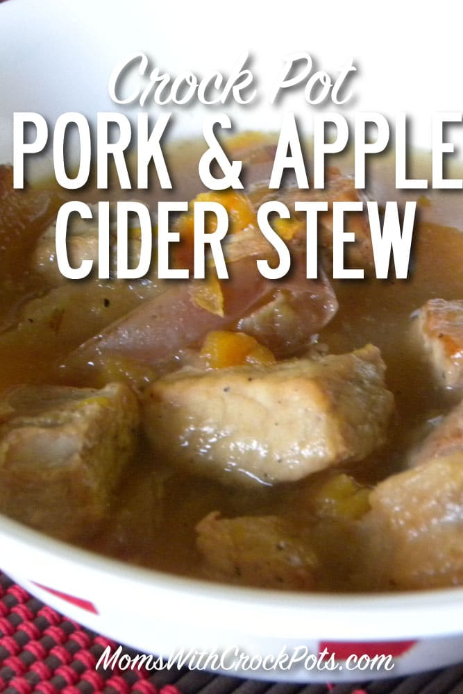A great fall meal! This Crock Pot Pork & Apple Cider Stew is the perfect mix of sweet & savory. A must try Crockpot recipe