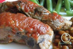 Crockpot BBQ Country S...Y Style Barbecued Ribs Recipe In Crock Pot