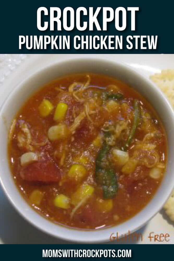 A perfect fall dinner! Try this Crockpot Pumpkin Chicken Stew Recipe