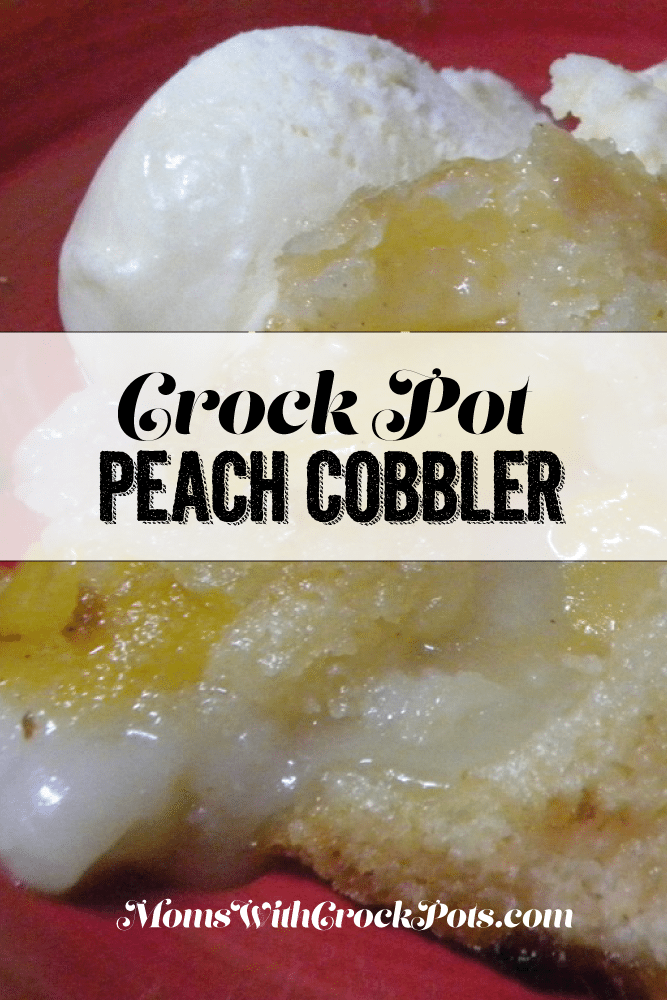 Crock Pot Peach Cobbler #Recipe #dessert