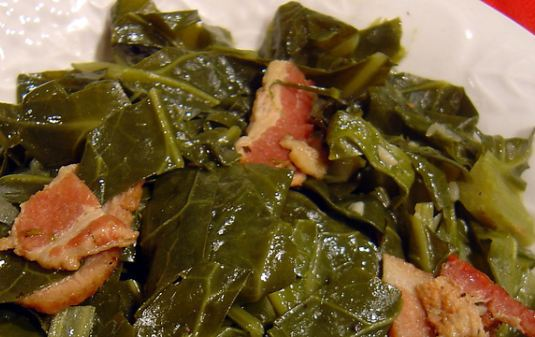 Cooked Greens Slow cooked collard greens