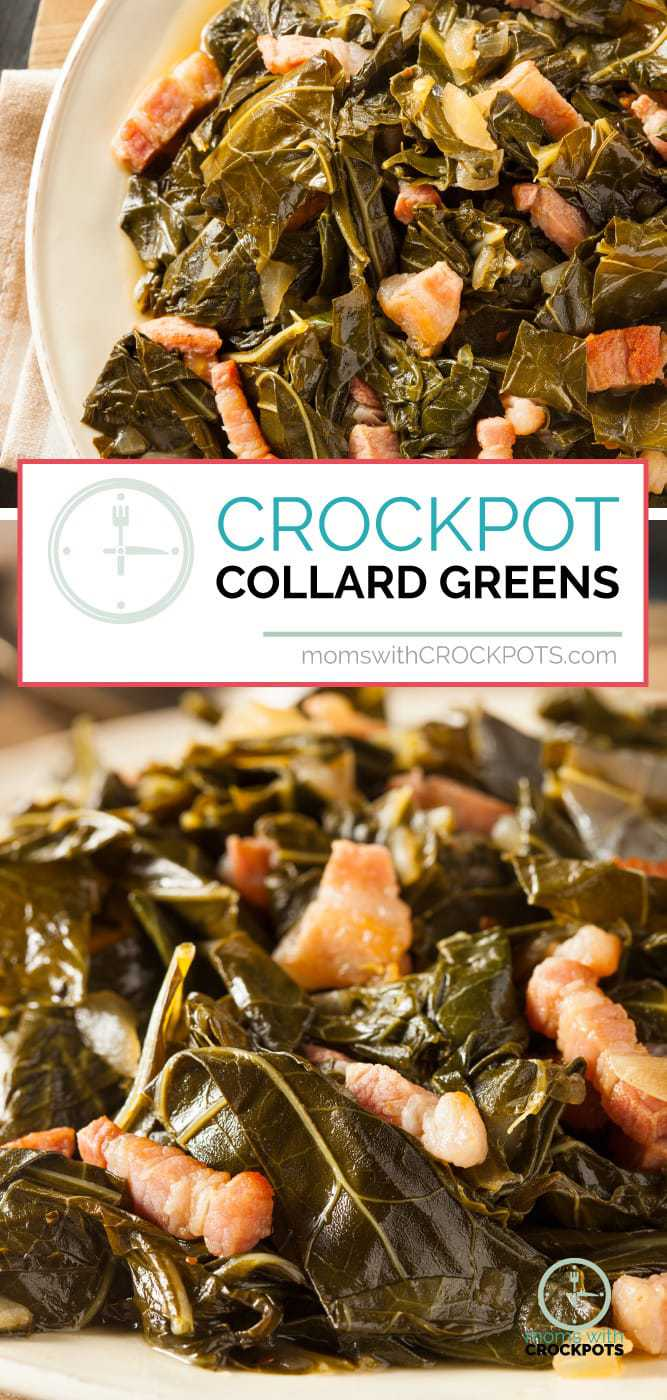 A southern classic especially during the holidays! Give this simple yet delicious #Crockpot Collard Greens #Recipe a try! The slow cooker makes them amazing!