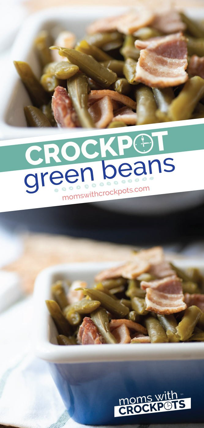 Crockpot Green Beans | Easy Slow Cooker Recipes For Thanksgiving | slow cooker recipes for thanksgiving | thanksgiving recipes