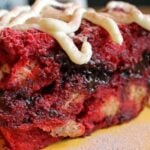 red velvet bread pudding