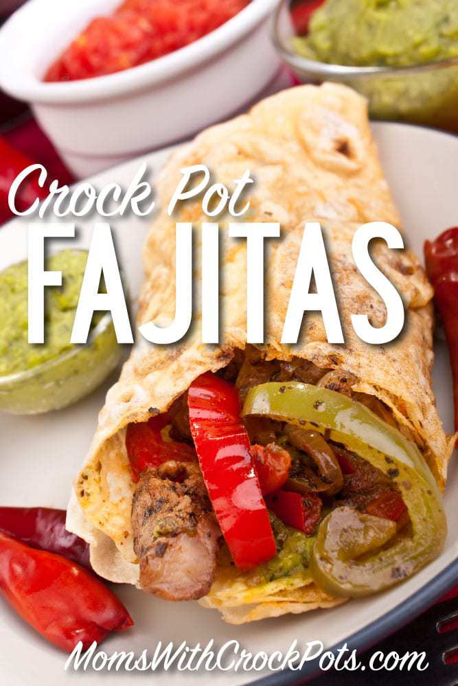 Love fajitas but don't have time? Check out this simple and tasty Crockpot Fajitas Recipe. Just dump the ingredients in and come back to dinner!