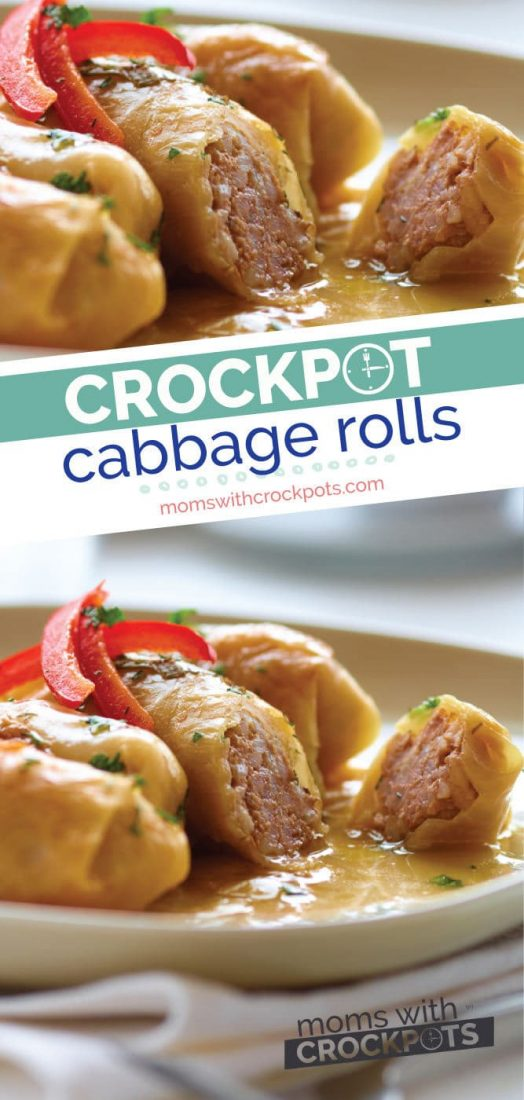 A classichome cooked recipe that is make even better in the slow cooker! You have to try this tastyCrockpot cabbage rolls recipe! #crockpot #slowcooker #recipe #glutenfree #cabbage