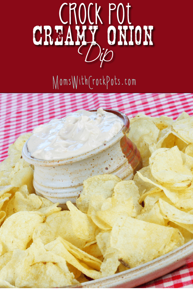 Need a quick crock pot appetizer. Try this Crock Pot Creamy Onion Dip Recipe