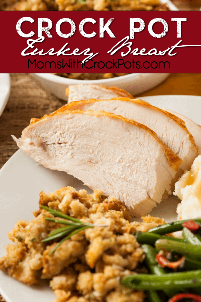 Don't spend the holidays in the kitchen! Check out this simple Crockpot Turkey breast Recipe. It turns out so moist in the slow cooker!
