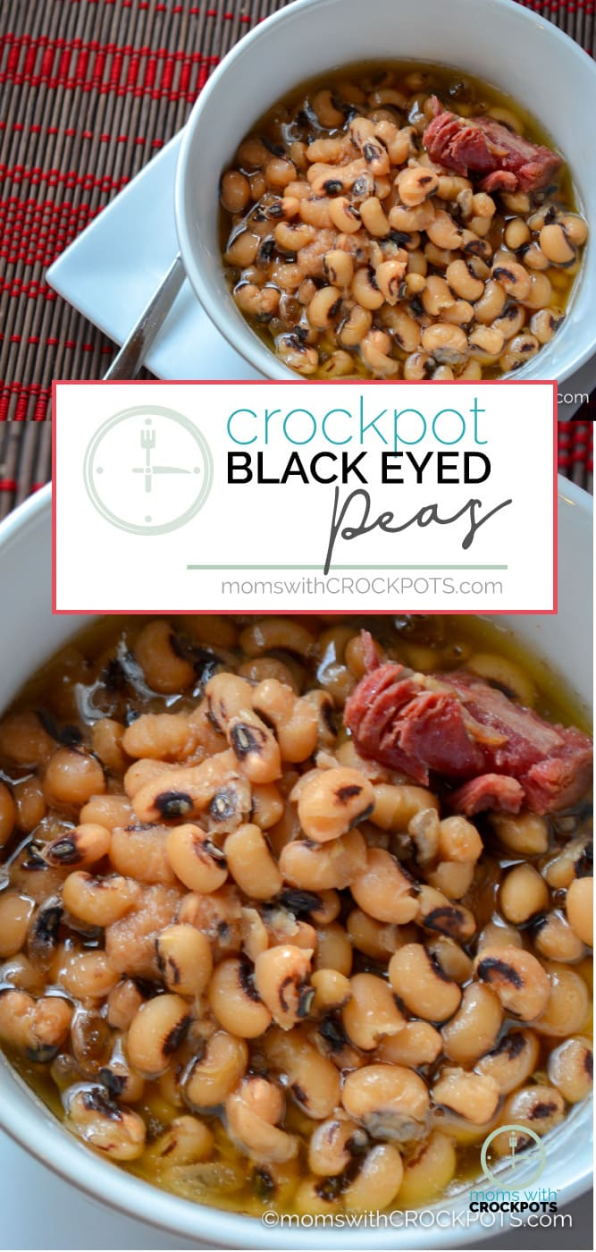 This is perfect for New Years, and tasty any day of the week. Try this simple and Amazing Crockpot Black Eyed Peas Recipe for your family!  #recipes #crockpot #newyears