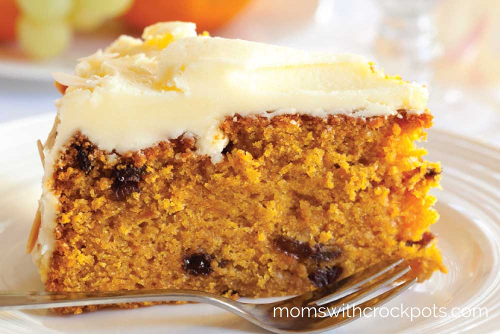 Bake a cake in your crockpot! Perfect for Spring or Easter give this yummy Crockpot Carrot Cake Recipe a try! It turns out deliciously moist and amazing!
