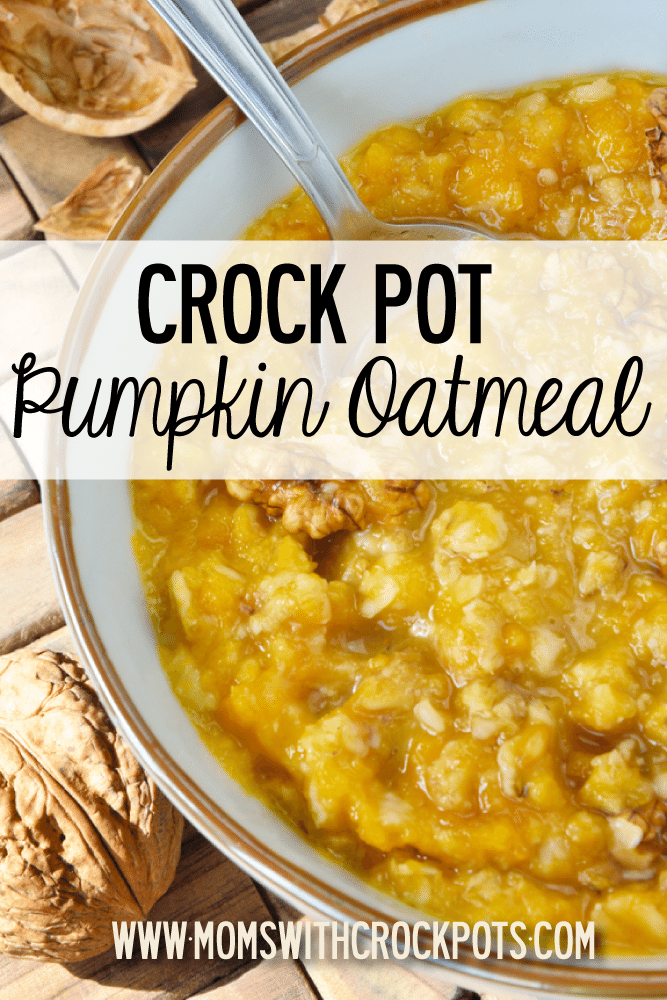 Crock Pot Pumpkin Oatmeal - Moms with Crockpots
