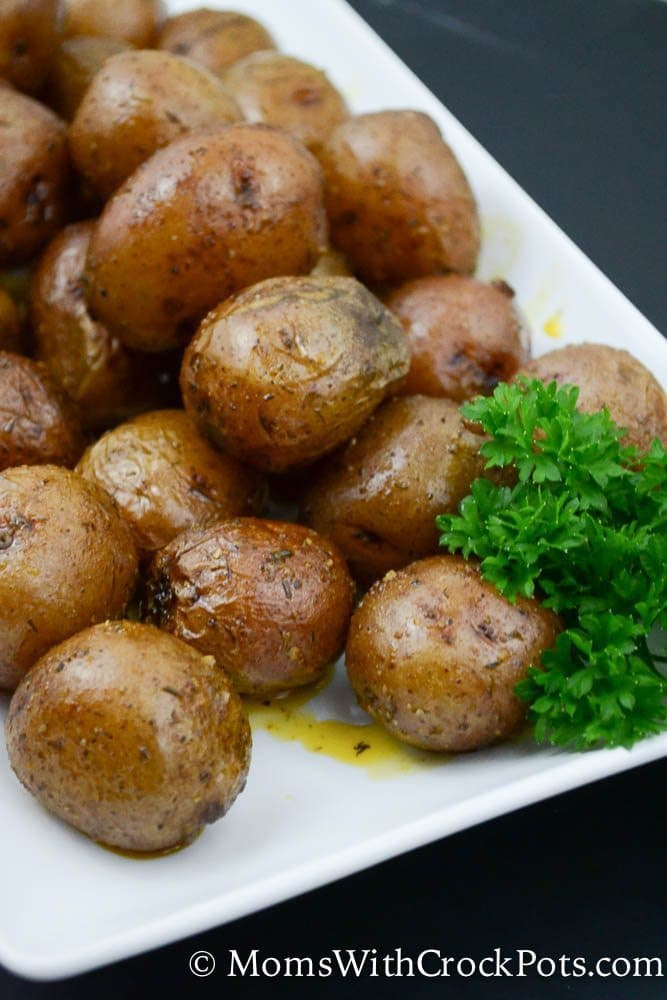 Easy and family friendly! Make this Simple Crockpot Ranch Potatoes Recipe. Such a great easy crockpot side dish for dinner any night of the week!