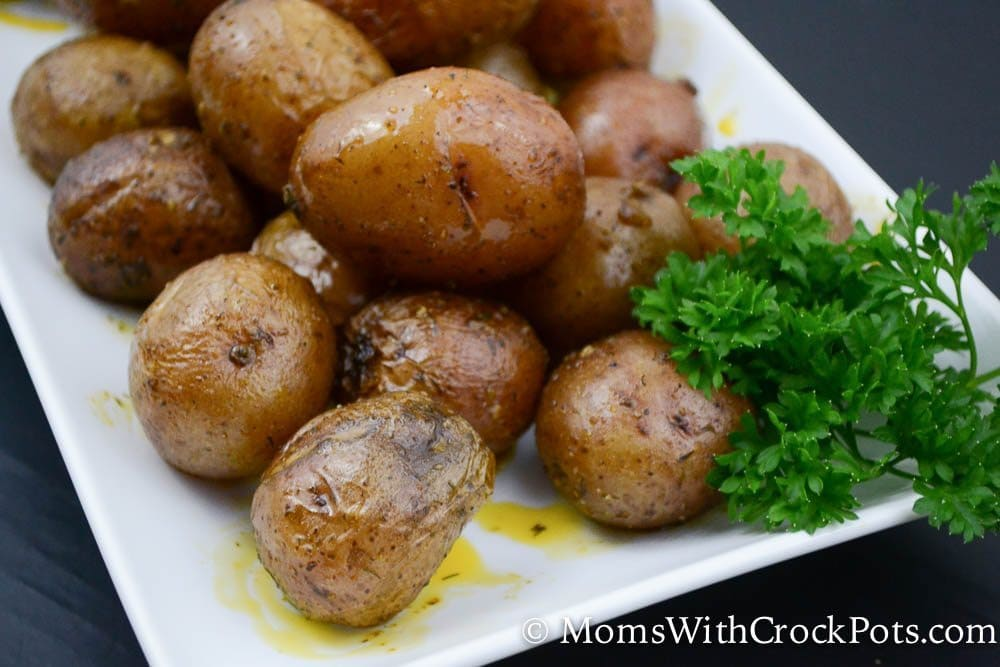 Easy and family friendly! Make this Simple Crock Pot Ranch Potatoes Recipe. Such a great easy crockpot side dish