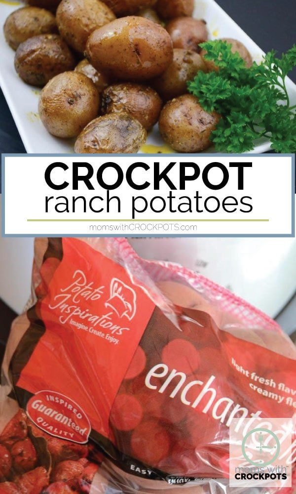Easy and family friendly! Make this Simple Crockpot Ranch Potatoes Recipe. Such a great easy crockpot side dish for dinner any night of the week! #crockpot #Slowcooker #sidedish #recipe