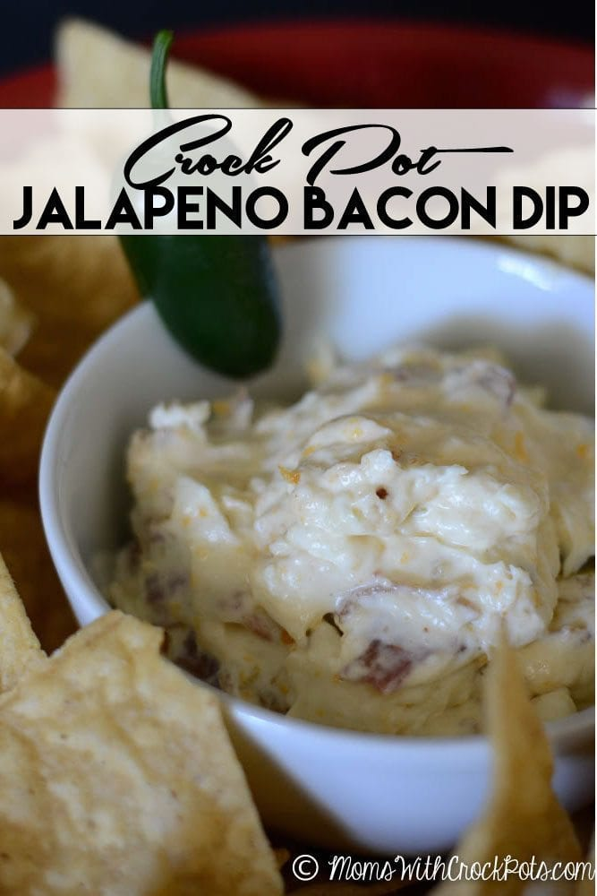 Perfect for any party or get together! You have to try this simple Crock Pot Jalapeno Bacon Dip Recipe