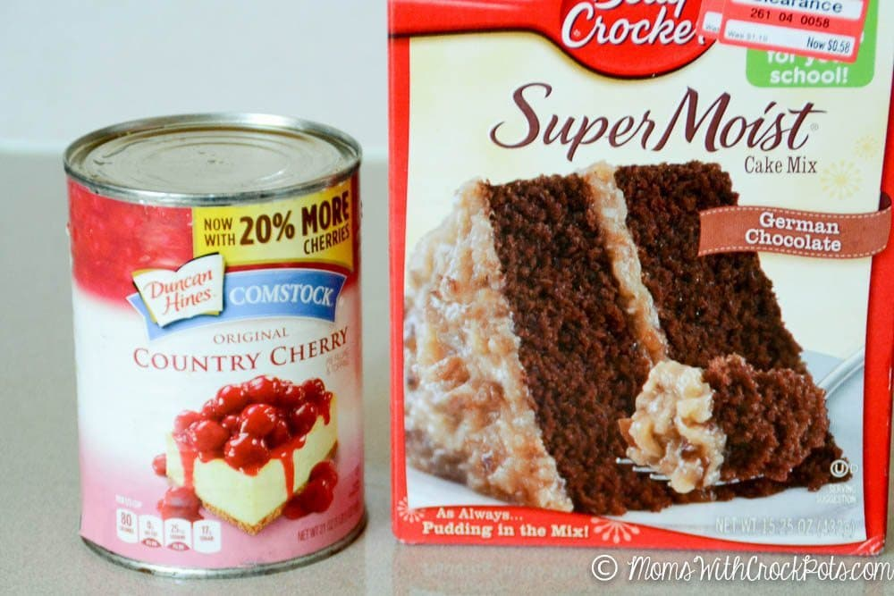Crock Pot Chocolate Cherry Dump Cake-1