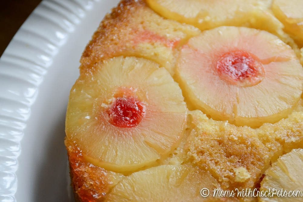 Make a dessert to wow a crowd with only a few ingredients and a Crock pot! Check out this simple Crockpot Pineapple Upside Down Cake Recipe!