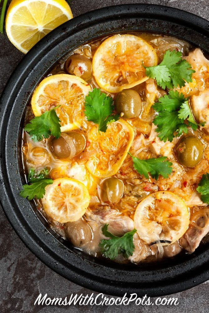 This Crock Pot Moroccan Chicken Recipe adds fresh flavors to simple ingredients. This is a great meal if you are trying to eat healthier for swimsuit season too!