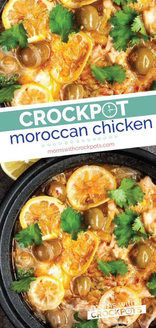 This Crock Pot Moroccan Chicken Recipe adds fresh flavors to simple ingredients. This is a great meal if you are trying to eat healthier for swimsuit season too! #chicken #crockpot #slowcooker #dinner #recipe
