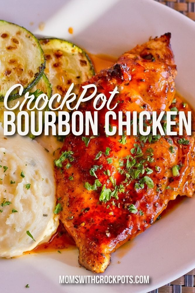 You can never have too many good CrockPot Chicken Recipes! This Crock Pot Bourbon Chicken is a WINNER! You can easily prep this ahead for a freezer meal too!