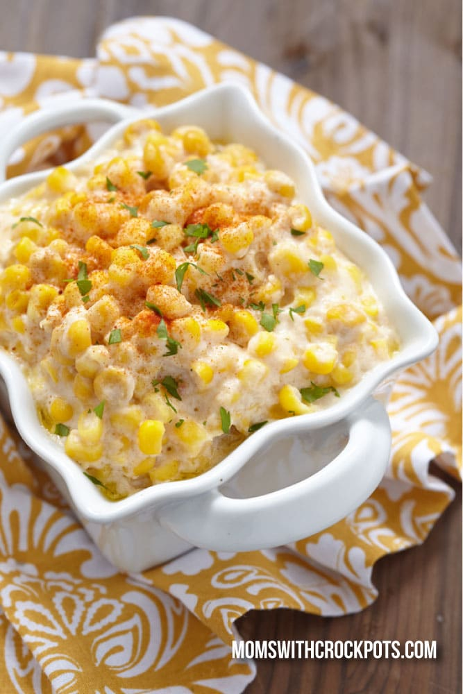 A classic side dish made in the crock pot! Check out this Crockpot Creamed Corn Recipe! Always a family favorite!