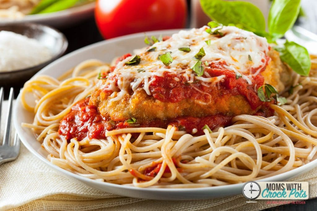 This CrockPot Chicken Parmesan Recipe is one of my all time favorites ...