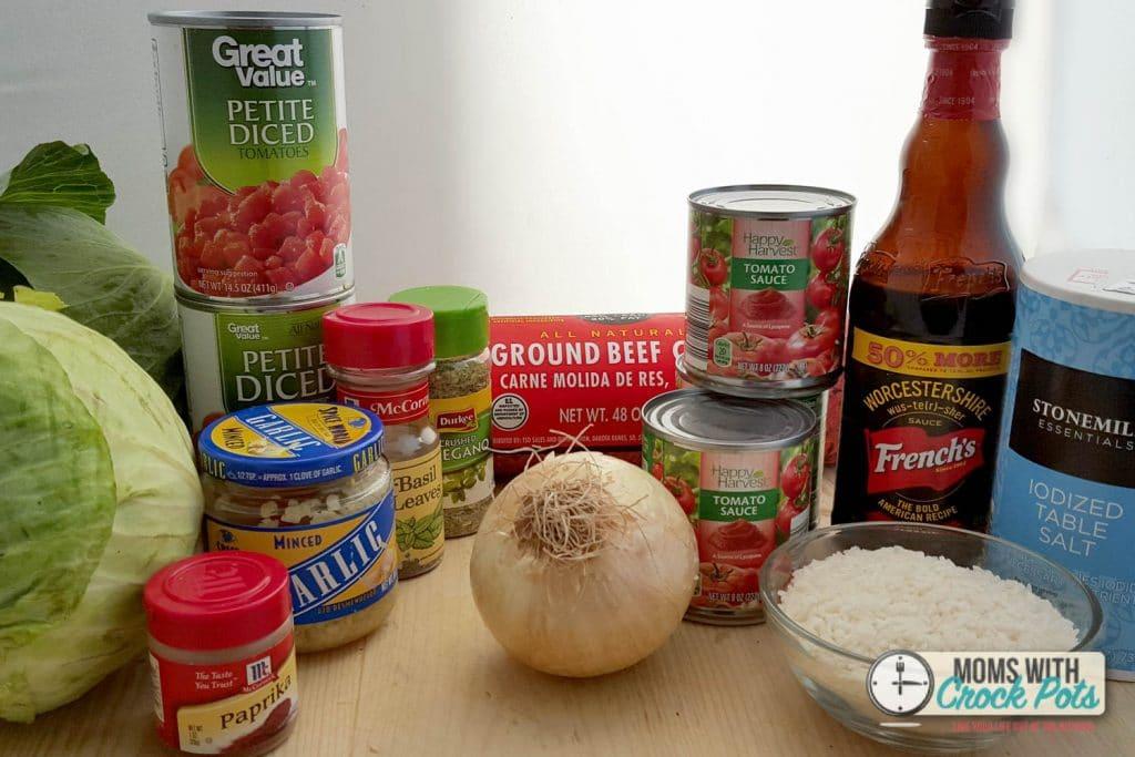 Crockpot Cabbage Roll soup