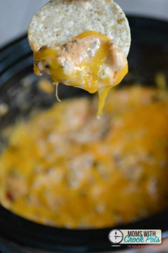 A perfect football food. Check out this Crockpot Cheeseburger Dip Recipe for game day!