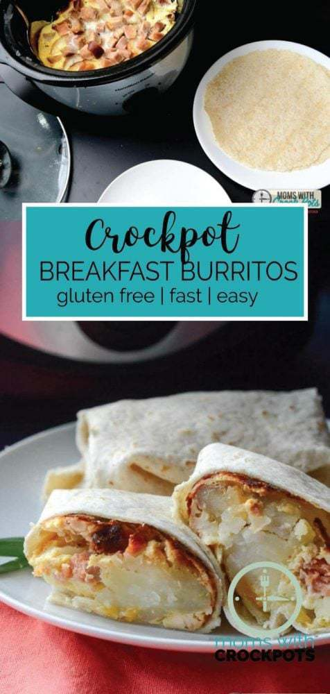 Getting a hot breakfast on the table in the mornings can be a challenge. Let your slow cooker do the work with this Crockpot Breakfast Burritos Recipe!