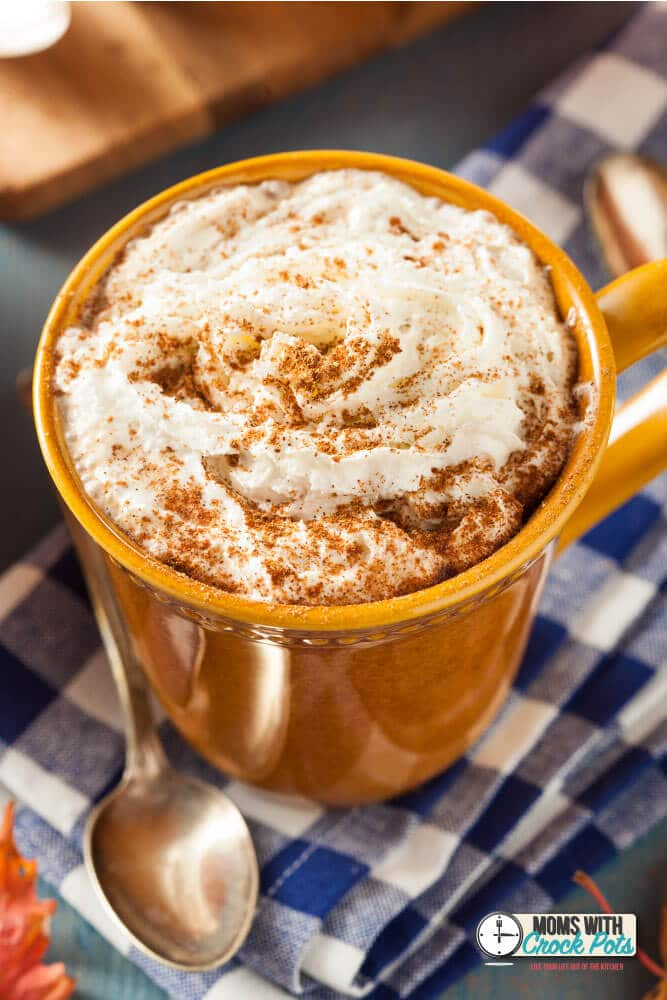 The perfect Fall beverage! This Crockpot Pumpkin Spice Hot Chocolate Recipe is perfect for autumn!