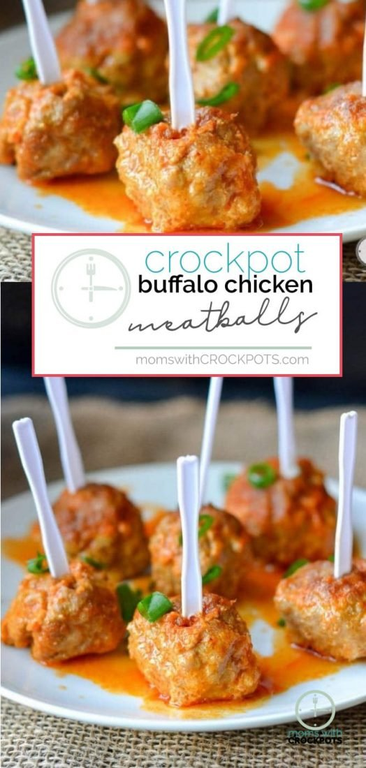 A perfect keto, man-pleasing appetizer! Check out this simple Crockpot Buffalo Chicken Meatballs Recipe! Great for game day or just because! #gameday #recipes #crockpot #slowcooker #keto #appetizer