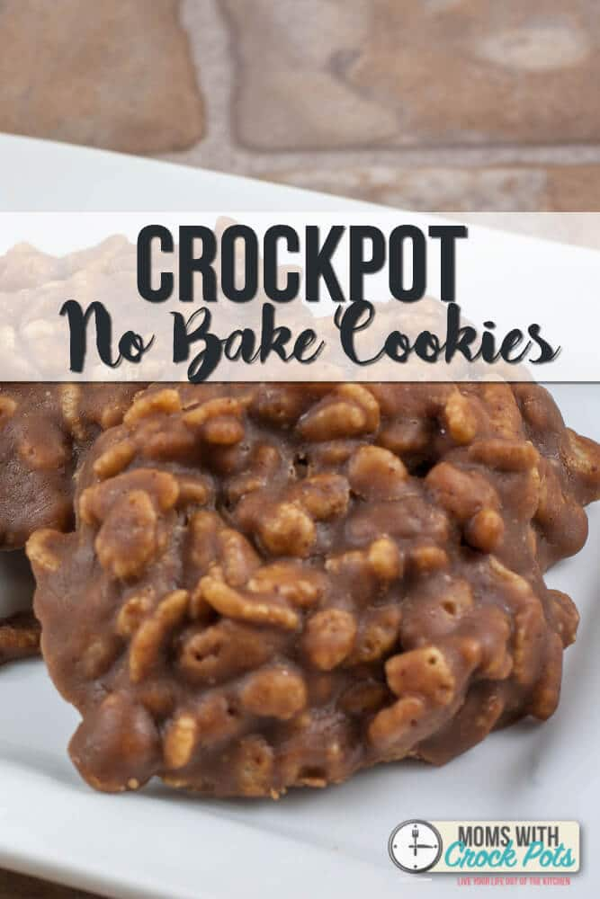 A fun twist on a classic no bake cookie. Check out this easy Crockpot No Bake cookies Recipe! These chocolate & peanut butter bites of heaven are perfect anytime of the year!