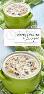Looking for a yummy slow cooker chicken soup? You have to try this Crockpot Chicken Wild Rice Soup Recipe