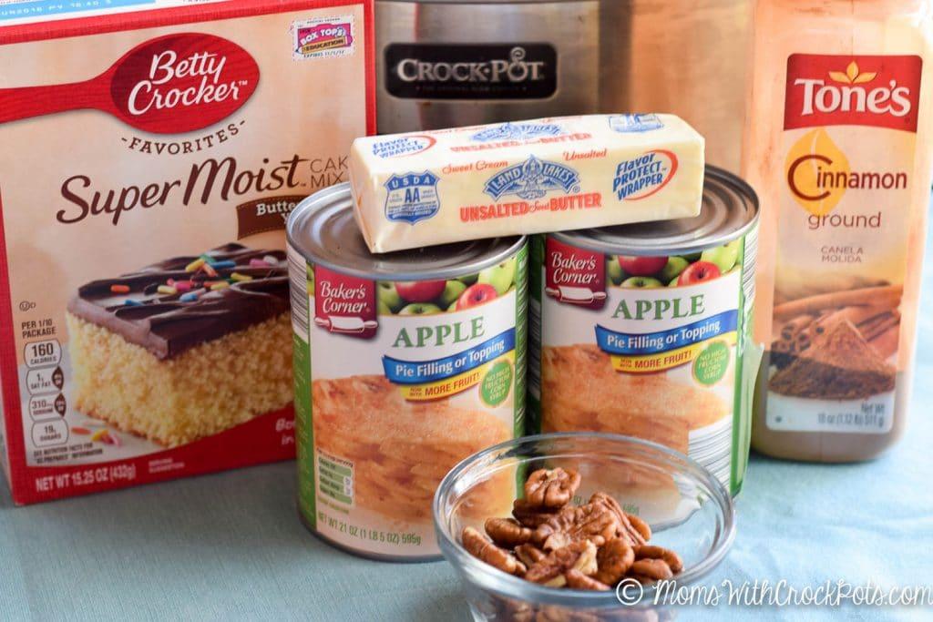 Crockpot Apple Dump Cake Recipe Moms With Crockpots