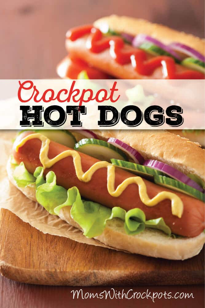 Cooking for a crowd? Don't stress. Pull out your crockpot and make these Crockpot Hot Dogs. You can make a fun hot dog bar and wow your guests with this simple recipe.