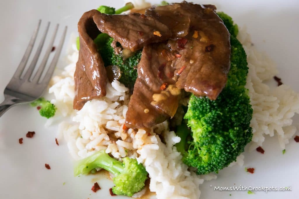 Simple to throw together, but oh so good. Everyone will want this Crockpot Beef & Broccoli Recipe!
