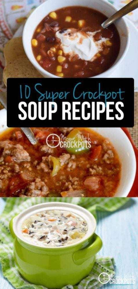 When the chill hits the air there is one meal on everyones' mind; SOUP! Why not be one step ahead of the game and make it in the crock pot?! These crockpot soups are so simple to throw together! Check out these 10 Super Crockpot Soup Recipes to have on hand this Fall and Winter.