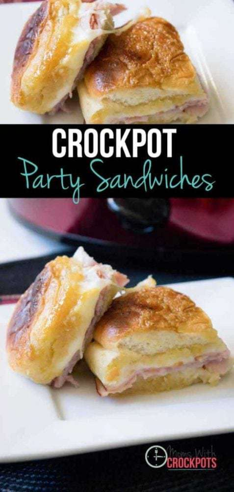 This recipe makes me excited. I don't know about you but I am always looking for something simple I can take to a pot luck, serve on game day, or pull out during the holidays! These Crockpot Party Sandwiches cover all of those bases and more!