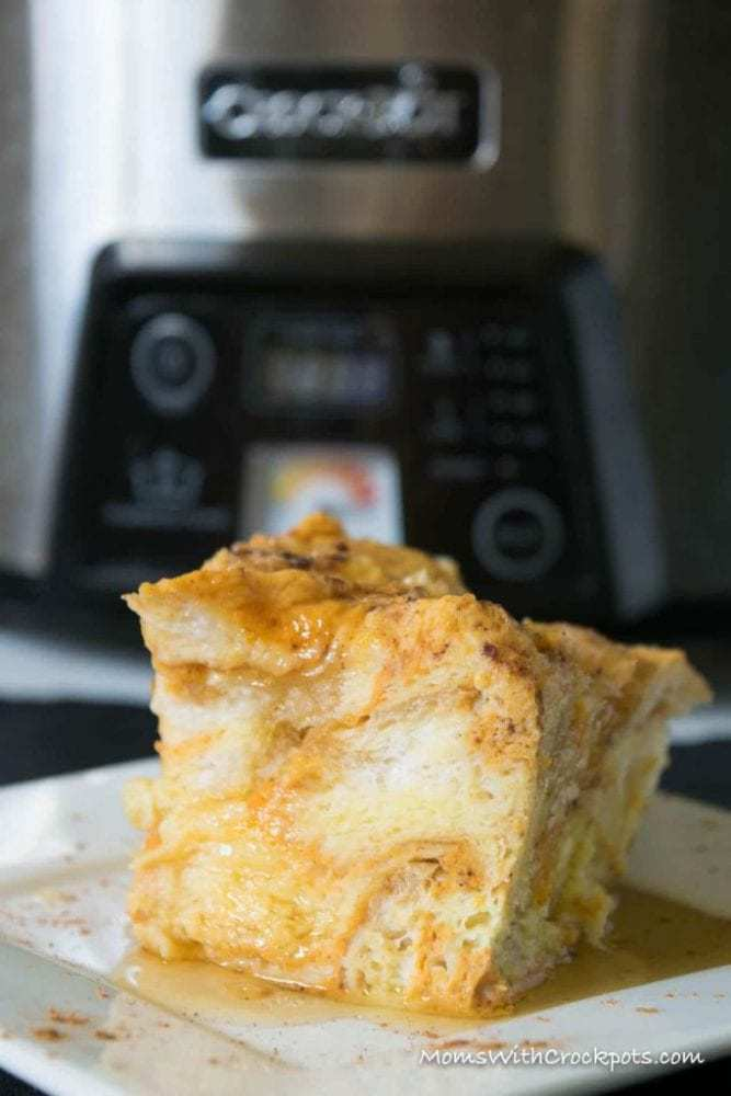 Because life it better with Pumpkin! This Crockpot Pumpkin French Toast Recipe is to die for! So simple for a delicious fall breakfast!