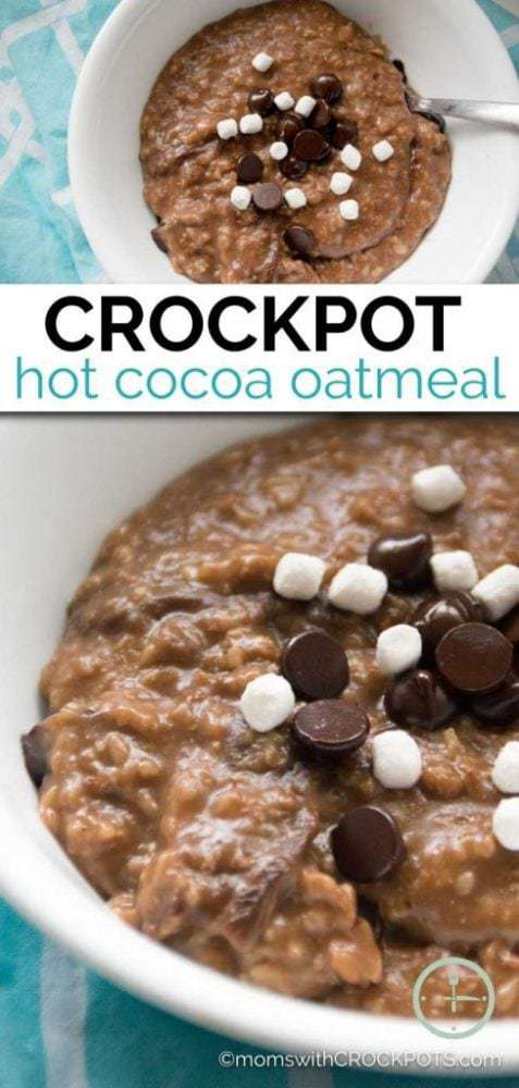 What a special way to wake up on a snow day, or any day. Try this yummy Crockpot Hot Cocoa Oatmeal Recipe