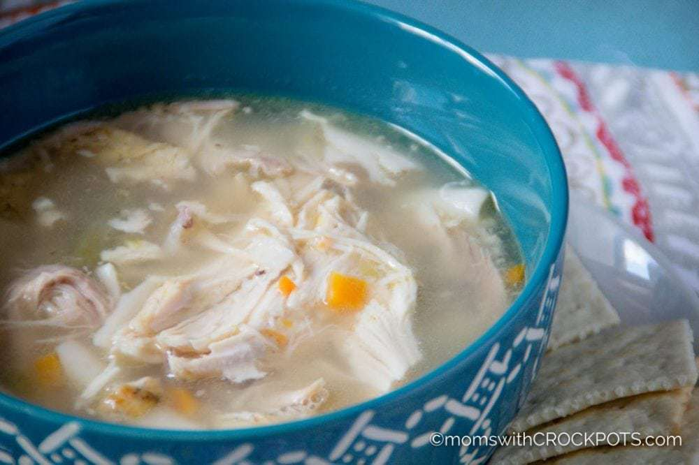 Crockpot Rotisserie Chicken Soup Moms With Crockpots