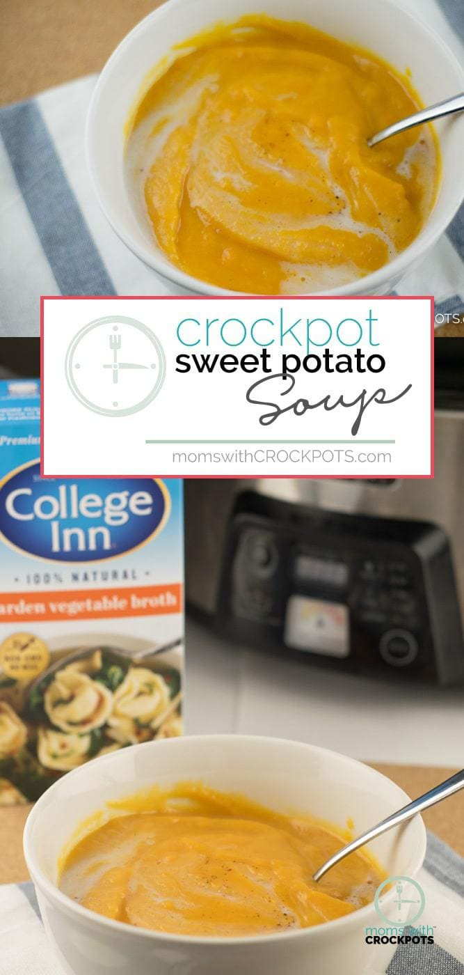 A complex soup that isn't difficult to make! This Crockpot Sweet Potato Soup Recipe is full of flavor! A great vegan slow cooker option! #vegan #crockpot #recipes #slowcooker