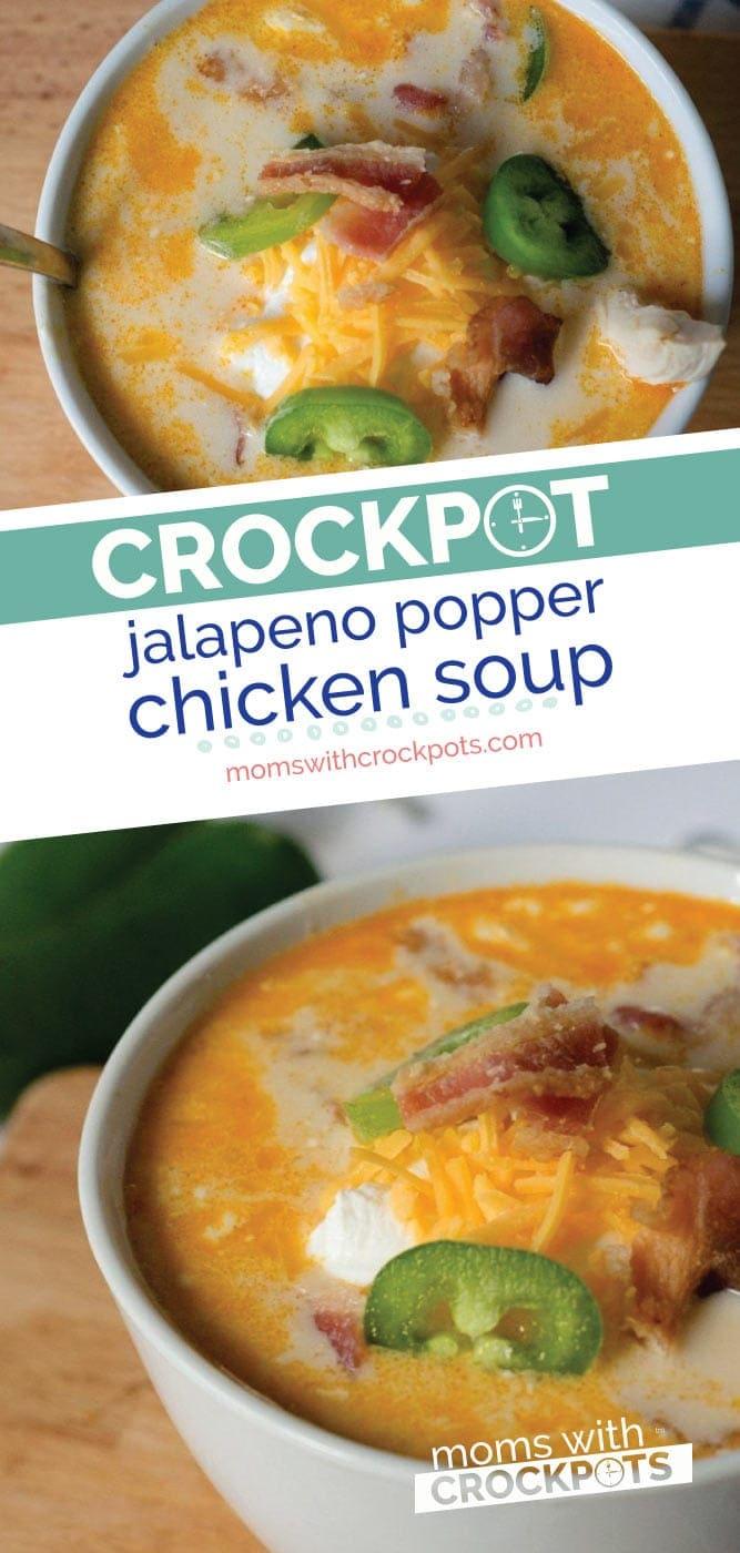 Crockpot Jalapeno Popper Chicken Soup