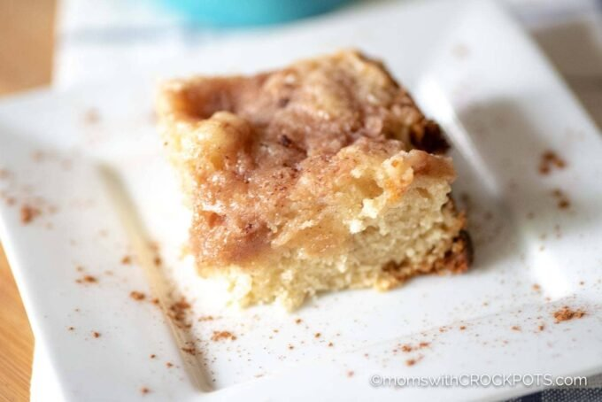 Make a tasty coffee cake from scratch and never turn on the oven. Bake a moist and delicious Crockpot Coffee Cake with this easy recipe.