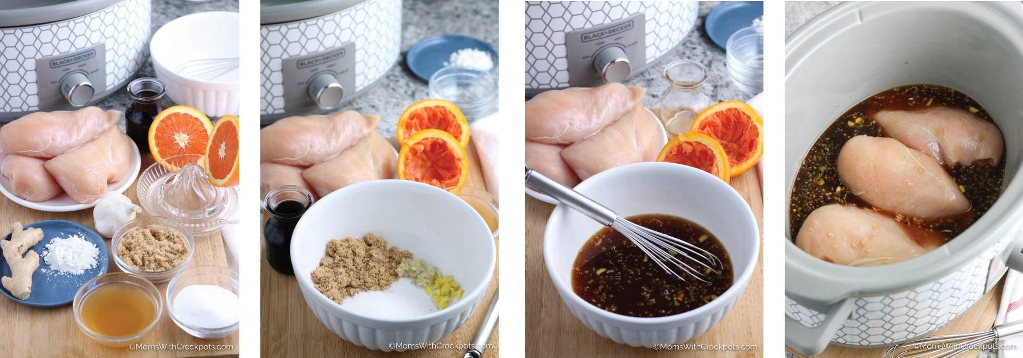 Crock Pot Teriyaki Chicken Steps